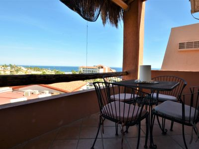 Photo for 2 Bedroom 2 Bath with Ocean View at Cabo Bello Gated community  close to a beach