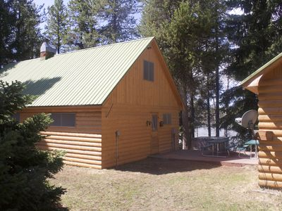 Photo for Charming Waterfront Cabin on Bill's Island*Private Boat Dock*Hot Tub*Wifi*
