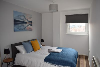 Double bedroom #1 with en-suite and King-size bed
