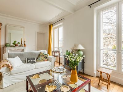Photo for In Haussmannian building, large family apartment comfortable 145m²