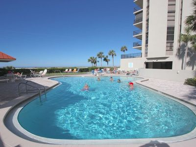 Photo for Beachfront End Unit, Pool, Hot Tub, Tennis, BBQ, free Wi-Fi & Cable, W/D -1208 Lighthouse Towers