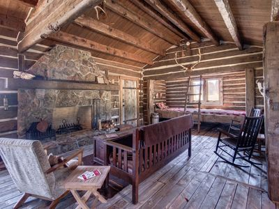 Photo for Authentic 1800's Cabin On A Beautiful 400+ Acre Mountain Ranch