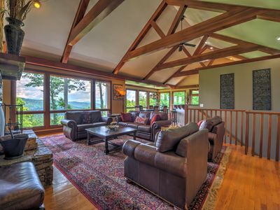 Photo for Vista View Lodge - Premiere location in S. Asheville! Hot tub, outdoor FP, gorgeous views, game t...