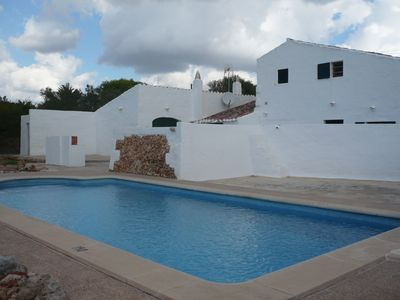 Photo for COUNTRY HOUSE WITH POOL IN MENORCA IDEAL FAMILIES WITH CHILDREN NEAR MAHON