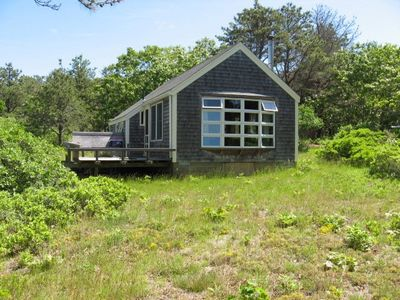 Photo for Beautiful cabin, away from it all on TIsbury Great Pond