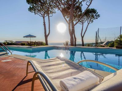 Photo for Melograno - Villa with huge private pool and tennis court. Gorgeous view. WIFI