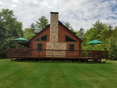 Photo for Pemi Riverfront Log Cabin, Perfect for Families, Sleeps 15