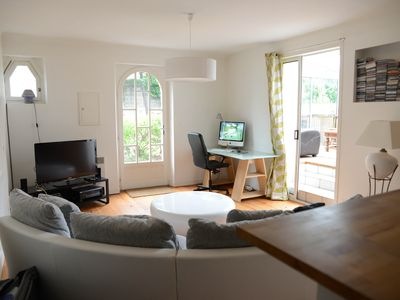 Photo for The apartment to the beach - Garden apartment with terrace, 200m from the beaches