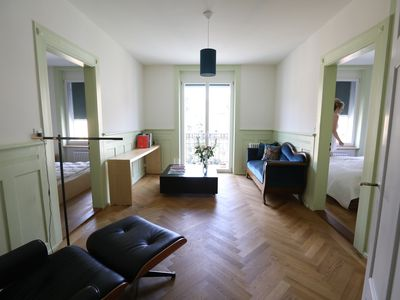 Photo for super renovated apartment in Zurich's trendy district