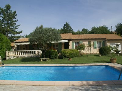 Photo for Comfortable detached house with a large fenced grassy yard at Cadenet
