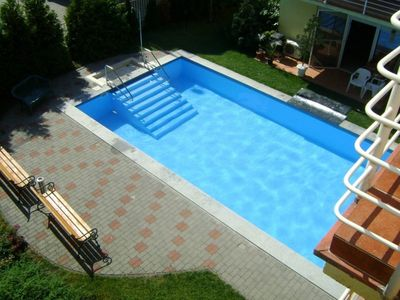 Photo for Modern apartment with pool & air-conditioner next to the beach area of Siófok