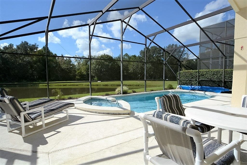 4 3 Orlando Vacation Home With Gorgeous Water View Amp Outdoor Spa Intercession City
