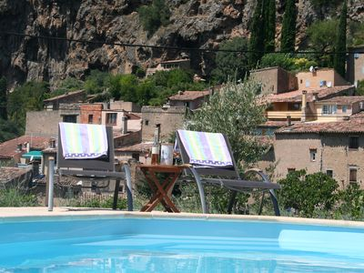Photo for Private Swimming Pool, Beautiful View Over The Landscape Around