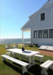 Photo for Views-Views-Views of beautiful Peconic Bay.  Tastefully renovated 1929 Cape.