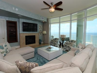 Photo for Turquoise C1009-Beach Front w/Large Terrace & Hot Tub, Saltwater Lazy River!