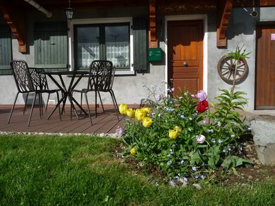 Photo for Ground floor apartment in Les Carroz, south facing, mountain view - Le Pernant 1