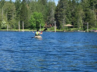 Photo for Beautiful lakefront townhouse on Sproat Lake