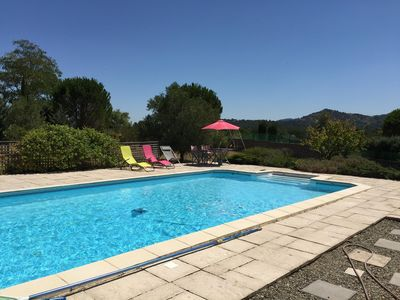 Photo for Villa with pool , near Carcassonne, with lovely views of Alaric mountains