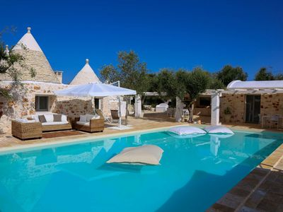 Photo for CHRISTMAS PROMO - Luxury Trullo with heated pool, Ostuni [9 people]