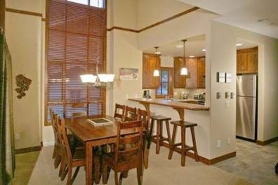 Large Dining Room and Kitchen.