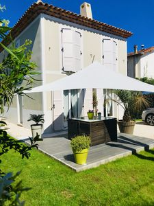 Photo for Detached house 100m beach Golfe-Juan between Cannes and Antibes