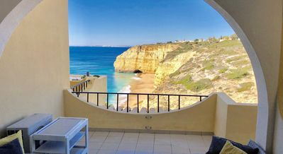 Photo for luxury apartment with fantastic sea views, air conditioning and wifi, direct elevator access to beac
