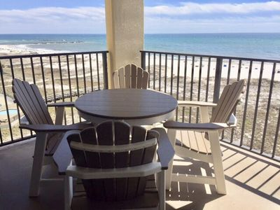 Photo for Beautiful Beach-Front Condo on the 8th Floor Perfect for a Small Family or Romantic Getaway!