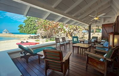 Photo for On Private White Sand Beach, Chef & Houskeeper inc, Kayaks, 5 Beds, 3 Bdrms, (RJC20)