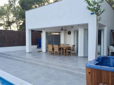 Photo for Villa Alba Sitges modern family villa with pool in