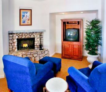 Living Room with Fireplace at the Gold Canyon Vacation Villas
