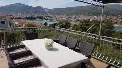 Photo for Fantastic view of Trogir and the sea, near the city, near the sea, family friendly