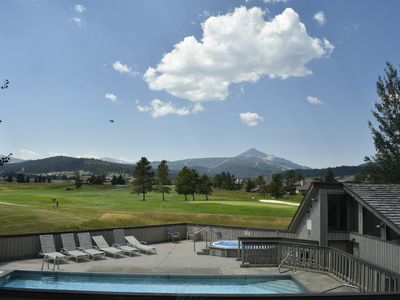 Photo for View of Lone Peak to Ski, Swim, Golf and Fish in Big Sky!