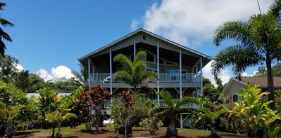 Photo for Large home with ocean views, close to new black sand beach