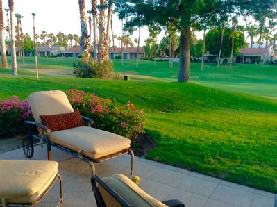 18th fairway off the patio of the Challenge course.