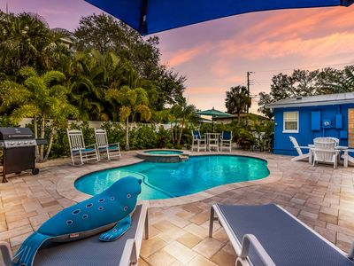 A Reel Beauty: Ground-Level, Heated Pool, Hot Tub, 2-Minute Walk to the Gulf!