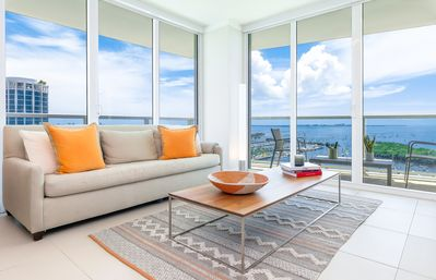Photo for OVERLOOKING THE OCEAN! WRAP-AROUND BALCONY. FREE: PARK, POOL, GYM, 75Mb WI-FI