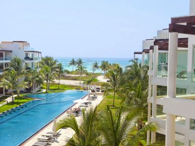 Photo for Beach Front Playa del Carmen  2 Bedroom Ground Floor Condo *Private Beach
