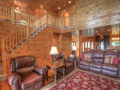 Photo for 4BR, Views, Hot Tub, Pool Table, Fire Pit, 2 King Suites, Close to Banner Elk, Boone, Ski Sugar