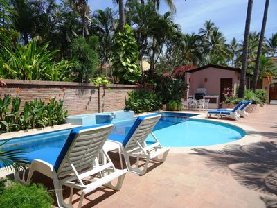 Photo for Casita Bendon, Beachfront small complex, heated pool, beach access