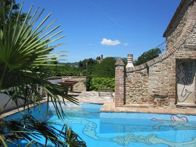 Photo for Antico Borgo Le Torricelle, medieval  settlement with mosaic-pool, 5 (2+3)
