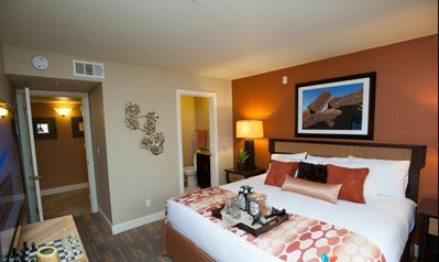 Photo for *Lux 2bd Resort Suite*Walk to strip*free Shuttle*Pool/Spa/Gym*
