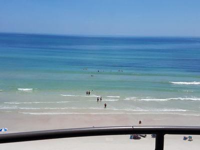Photo for Direct oceanfront condo with huge balcony and expansive views