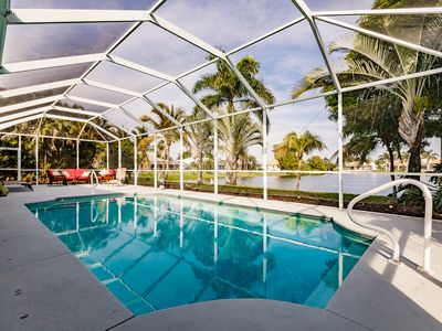 Photo for Fantastic lake view with private pool for dream vacation in Cape Coral
