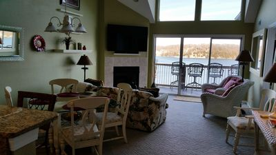 Looking out onto the beautiful unobstructed main channel view!