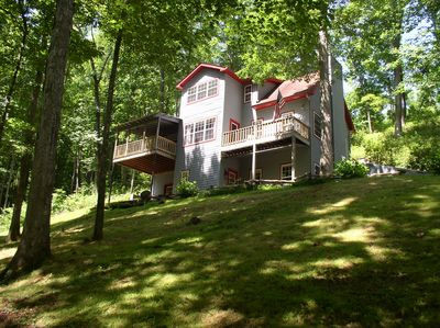 Dew Drop Inn.  3 story country home features privacy on every level