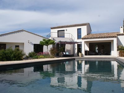 Photo for Rent villa architect sea view and vineyards of Bandol feerique
