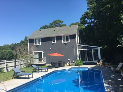 Photo for Sagamore House with a large inground pool. Sleeps 9 comfortably!