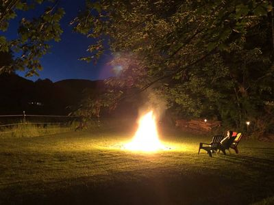 Magical summer nights by the bonfire.