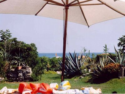Photo for Charming house by the beach, large Mediterranean Garden, pets welcome