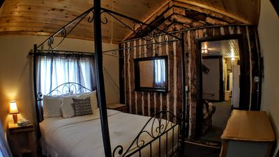 Photo for Historic cabin with one queen bed. No cleaning fee! Kitchen and full bath.